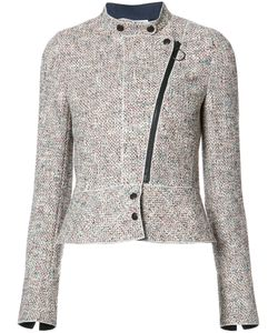 Akris Punto | Off Centre Zip Tweed Jacket 36 Viscose/Cotton/Polyester/Spandex/Elastane