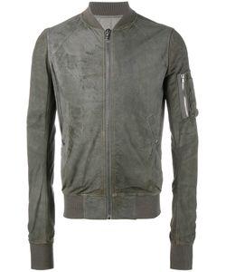 Rick Owens | Classic Bomber Jacket 52 Lamb Skin/Cotton/Virgin