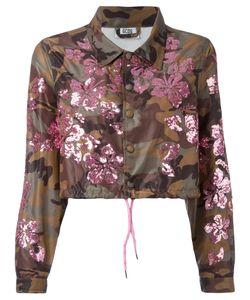 Gcds | Укороченная Камуфляжная Куртка С Отделкой Пайетками