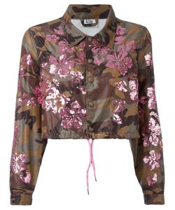 Gcds | Sequined Camouflage Print Cropped Jacket