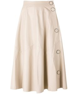 Drome | A-Line Leather Skirt Medium Leather/Cupro
