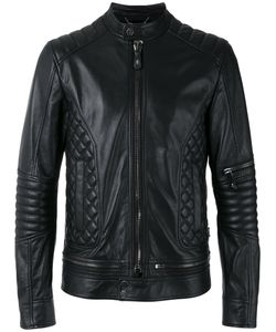 Philipp Plein | Quilted Panel Biker Jacket Size Medium Calf