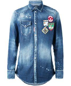 Dsquared2 | Джинсовая Рубашка С Нашивками