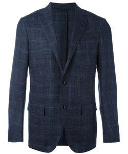Ermenegildo Zegna | Checked Blazer 46 Silk/Wool/Linen/Flax/Cupro