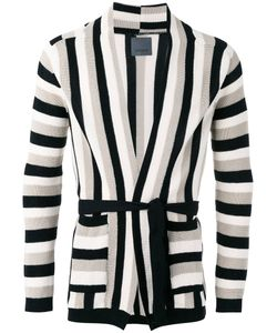Laneus | Striped Cardigan 46 Cotton