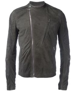 Rick Owens | Band Collar Biker Jacket 46 Cupro/Lamb