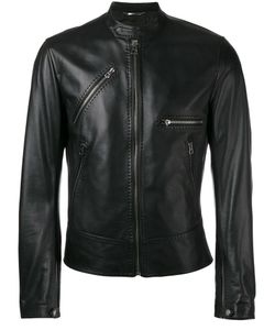 Dolce & Gabbana | Leather Jacket 46 Lamb Skin/Acetate/Viscose