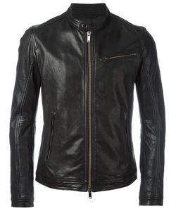 Dondup | Banded Collar Jacket Size 50 Lamb Skin/Polyester