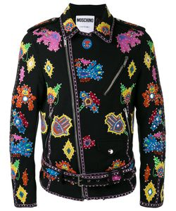 Moschino | Embroidered Biker Jacket