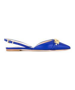 Moschino | Slingback Flats 40 Calf Leather