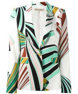 Emilio Pucci | Printed Blazer 40 Silk/Spandex/Elastane/Viscose