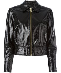 Lanvin | Cracked Leather Jacket 38 Lamb Skin/Cupro/Acetate