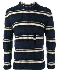 HELEN LAWRENCE | Striped Split Jumper Small Polyamide/Mohair/Wool/Lambs Wool