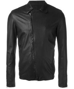 SALVATORE SANTORO | Biker Leather Jacket 52 Cotton/Sheep Skin/Shearling