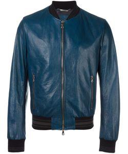 Dolce & Gabbana | Leather Bomber Jacket 46 Lamb