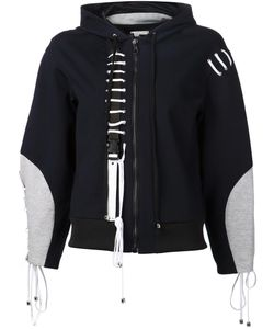 ANNE SOFIE MADSEN | Lace-Up Detail Zipped Hoodie Large