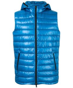 Herno | Zipped Hooded Gilet 52 Polyimide/Polyamide/Feather Down/Polyester