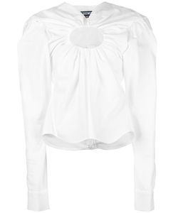 JACQUEMUS | Chest Hole Blouse 34 Cotton