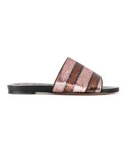 Rochas | Striped Sandals Size 37