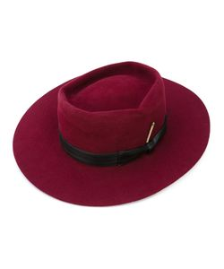 NICK FOUQUET | Side Bow Hat Leather/Silk Satin/Wool