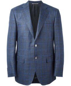 Canali | Plaid Blazer 58 Silk/Linen/Flax/Wool/Cupro