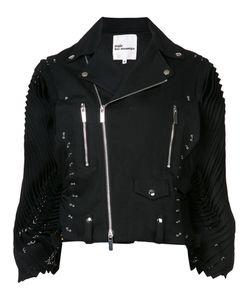 Comme Des Garçons Noir Kei Ninomiya   Pleated Sleeves Biker Jacket