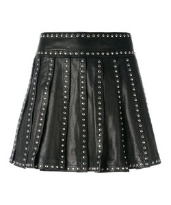 Dsquared2 | Studded Pleated Skirt 38 Calf Leather/Polyester/Aluminium