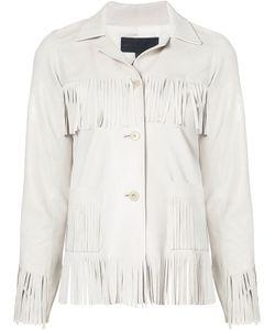 Nili Lotan | Fringed Leather Jacket