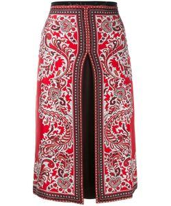 Alexander McQueen | Slit Paisley Skirt 36 Silk