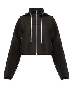 Rick Owens   Detachable Hood Zipped Jacket 44 Cotton/Polyester/Viscose