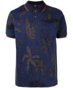 PAUL SMITH LONDON | Palm Print Polo Shirt Size Xl