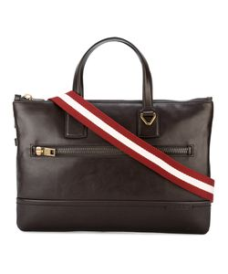 Bally | Striped Strap Messenger Bag Leather