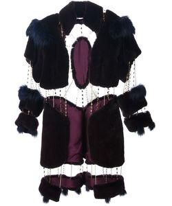 Liska Haute Fourrure By Romain Brau | Меховое Пальто С Цепочными Деталями