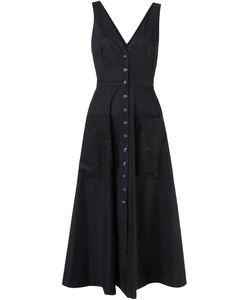 Saloni | Длинное Платье С V-Образным Вырезом Zoey