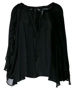 DRESS CAMP | Sheer Draped Blouse