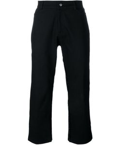 MOW | Frayed Trim Flared Cropped Trousers