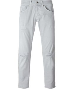 Dondup | Knee Distressed Straight Leg Jeans