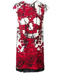 Philipp Plein | Платье С Принтом Роз