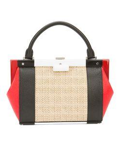 PERRIN PARIS | Mini Structured Tote Bag Leather/Rattan