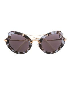 Miu Miu Eyewear | Curved Cat Eye Sunglasses Acetate/Metal Other
