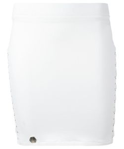 Philipp Plein | Bondage Mini Skirt Large Cotton/Spandex/Elastane