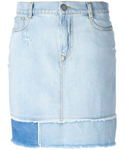 Vivienne Westwood Anglomania | Frayed Straight Denim Skirt