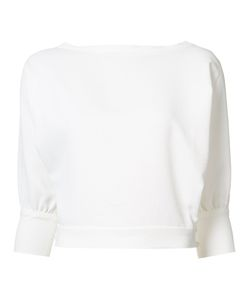 Rachel Comey | Cropped Sleeves Blouse 6 Polyester