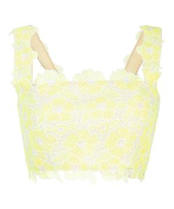 Monique Lhuillier | Lace Cropped Top 8 Polyester