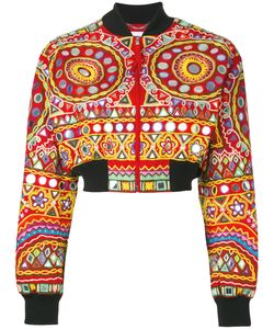 Moschino | Mirror Embroide Bomber Jacket 42 Cotton/Polyester/Rayon