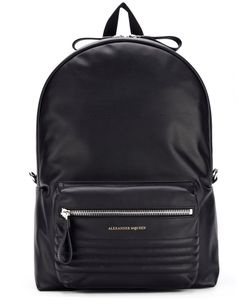 Alexander McQueen | Ribbed Panel Backpack Leather