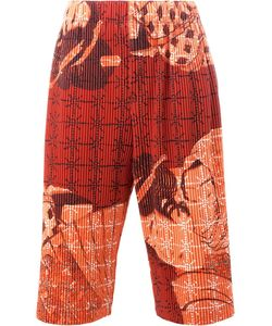 HOMME PLISSE ISSEY MIYAKE | Homme Plissé Issey Miyake Geisha Print Shorts 2