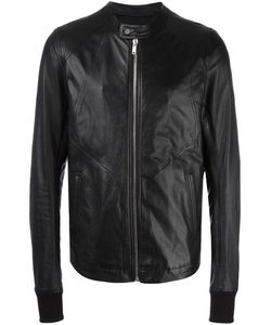 Rick Owens | Band Collar Jacket 48 Sheep Skin/Shearling/Cupro/Virgin