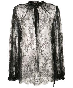 Alexander McQueen | Прозрачная Кружевная Блуза
