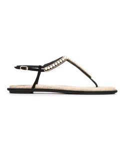Rene' Caovilla | René Caovilla Embellished T-Bar Flat Sandals